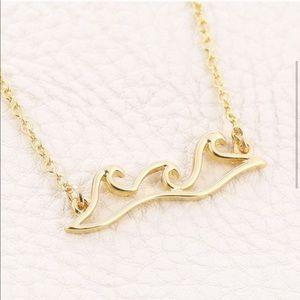 Dainty Ocean Wave Pendant necklace